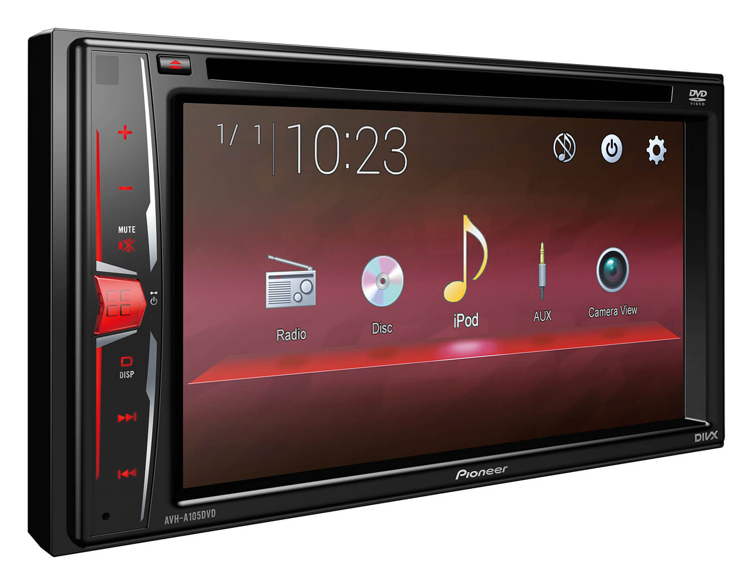 DVD Multimedia AV Receiver with 6.2 Touchscreen Display & Control for iPod/iPhone