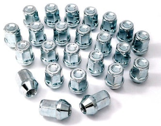 Chrome Wheel Nuts SUBARU